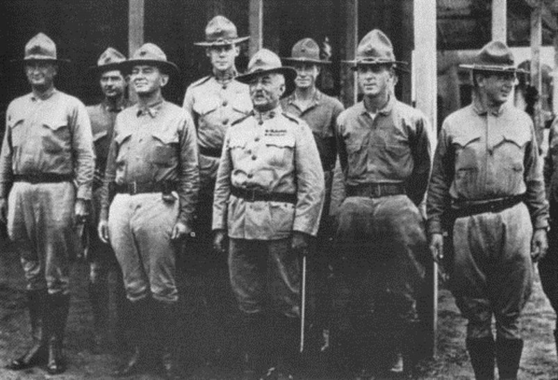 General Smedley Butler at Veracruz, 2nd from the right