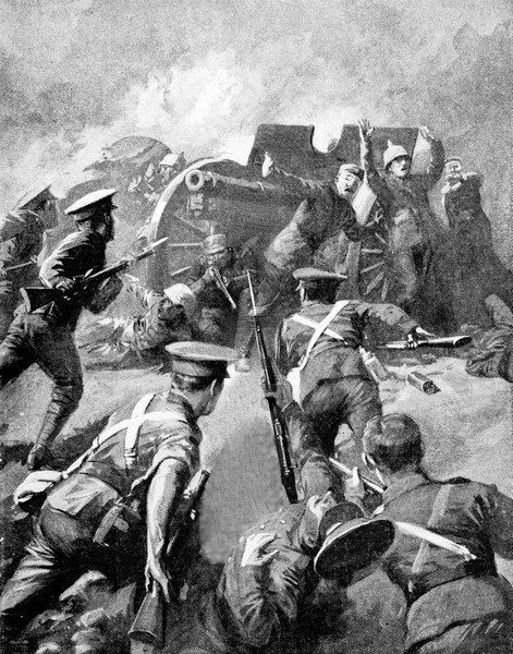 Early British propaganda offered unrealistic visions of combat on the European continent that reflected acceptance of high casualties on the assumption that morale and elan would defeat automatic weapons