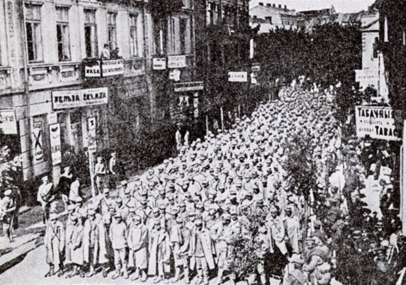 A few of the 300,000 Austrian prisoners taken by Russia in their 1914 Galicia campaign