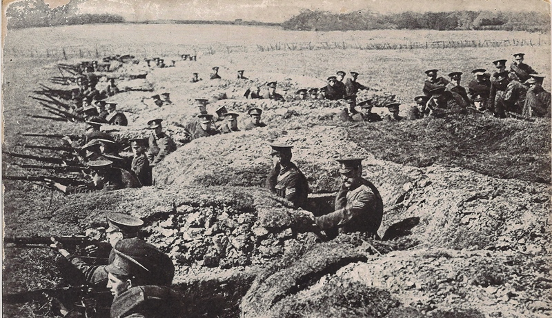 British trenches at the Aisne were essentially connected rifle pits