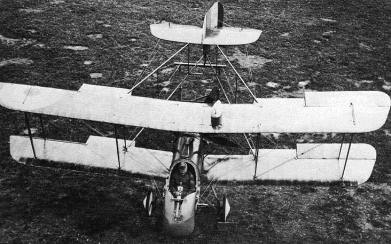 With its 'push' propelle, the DH.2 was one of the few planes capable of hunting enemy aircraft with a machine gun
