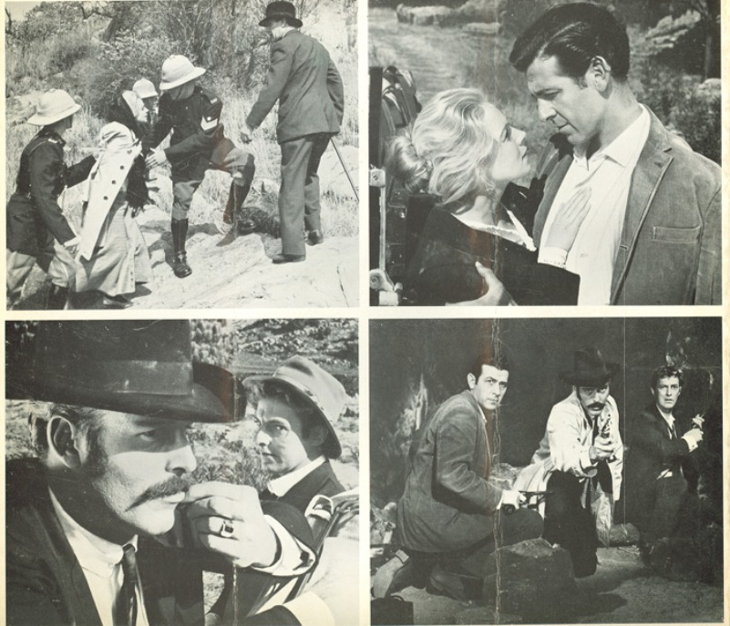 Publicity photos for the 1964 film The Foster Gang. Via NYU.edu