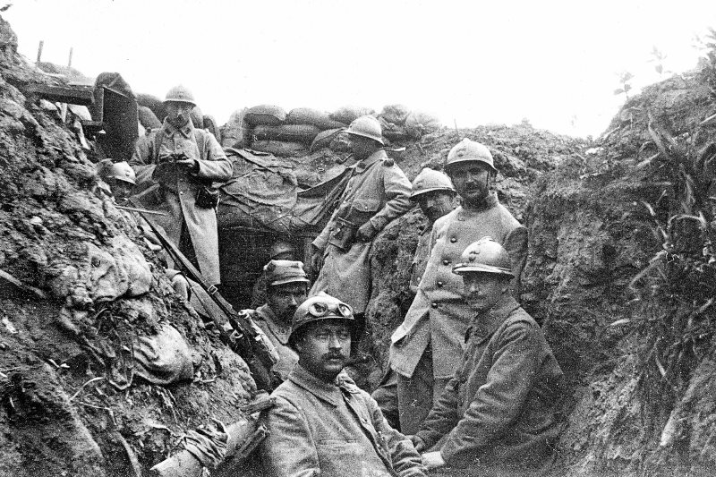 In contrast, the allies did not want to establish permanent trenches because it would give the 'wrong message'