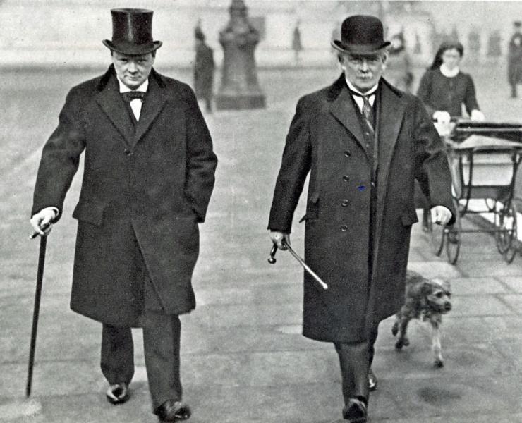 Lloyd George with Winston Churchill