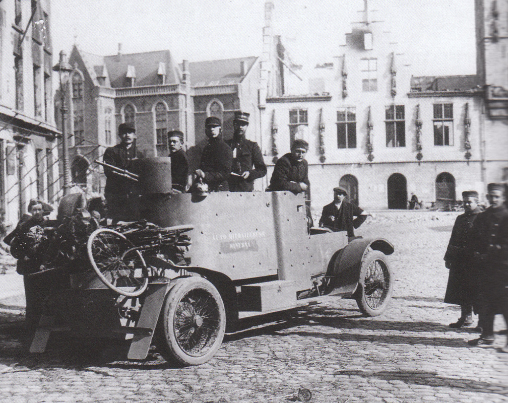 The Belgian Minerva armored car helped point the way towards tank development