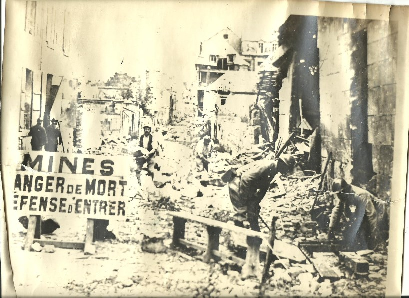 A photograph of Noyon liberated in 1918