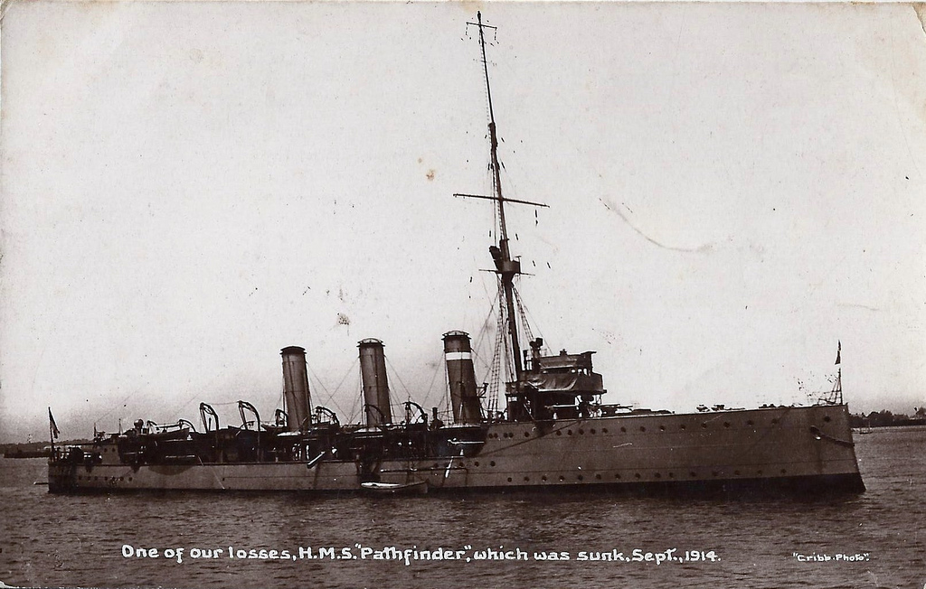 The HMS Pathfinder went down with almost everyone on board