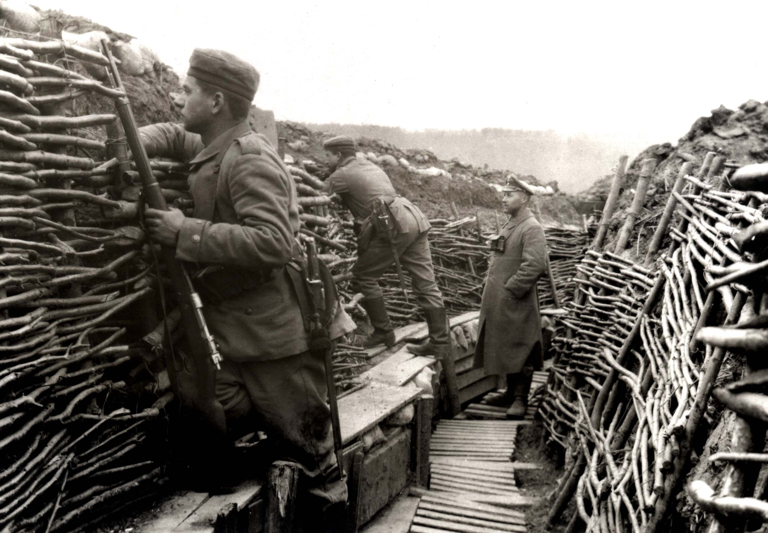 German trenches were designed for endurance on the defensive