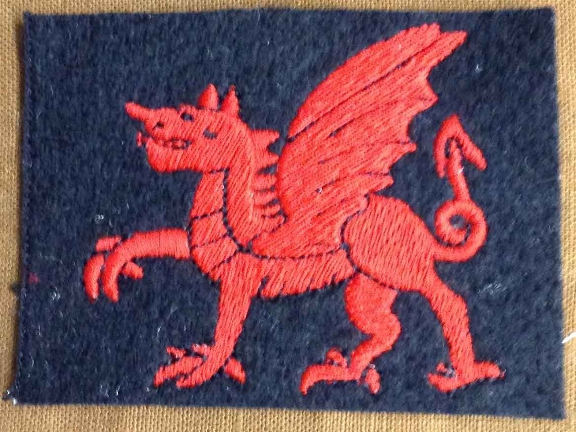 The uniform patch of the Welsh Army Corps