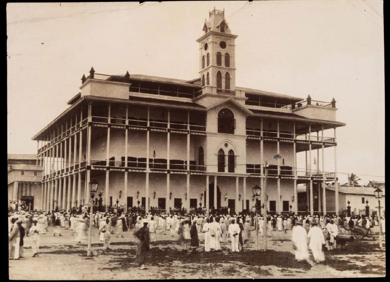 The sultan's palace at Zanzibar, restored ca. 1893