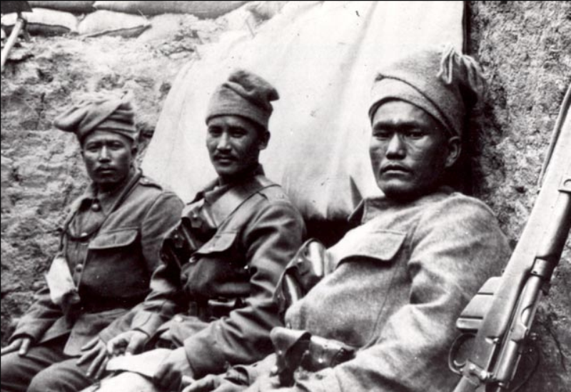 Nepalese men of the 6th Gurkha Rifles