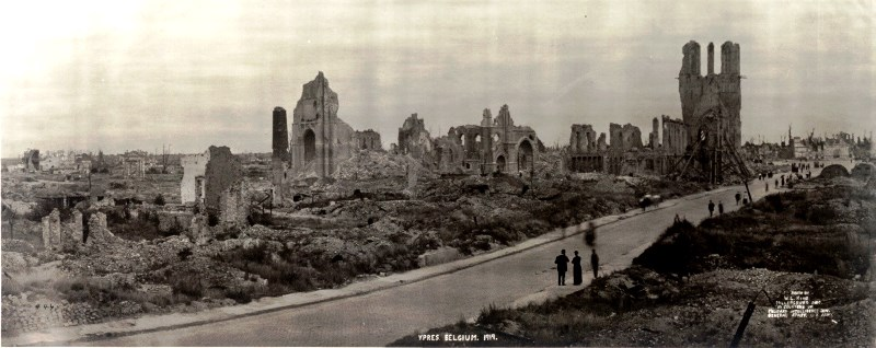 1919: the cloth hall in ruins