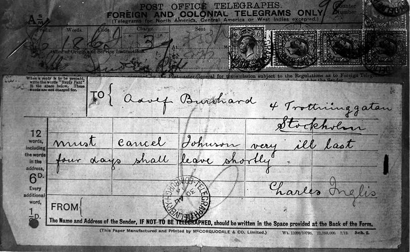 Lody's telegram that resulted in his discovery