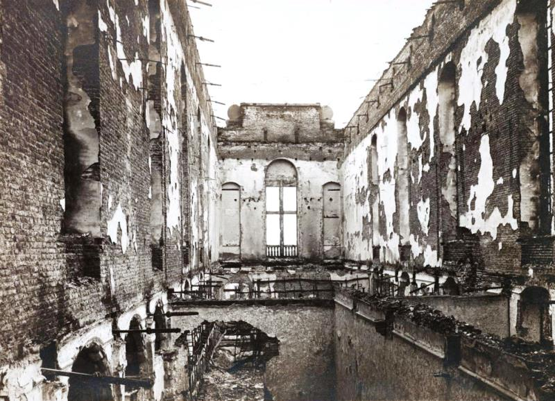 The library at Louvain that 93 German intellectuals claimed had not been burned
