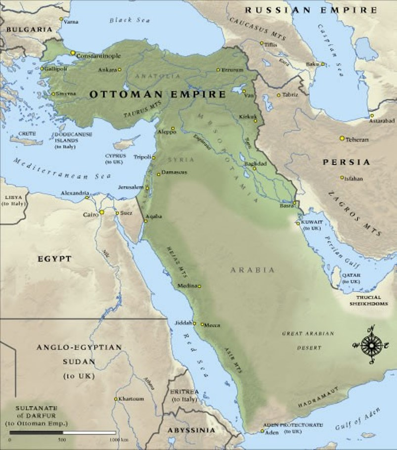 Already a shell of its former self, the eventual collapse of the 'sick man of Europe' led to the modern Middle East