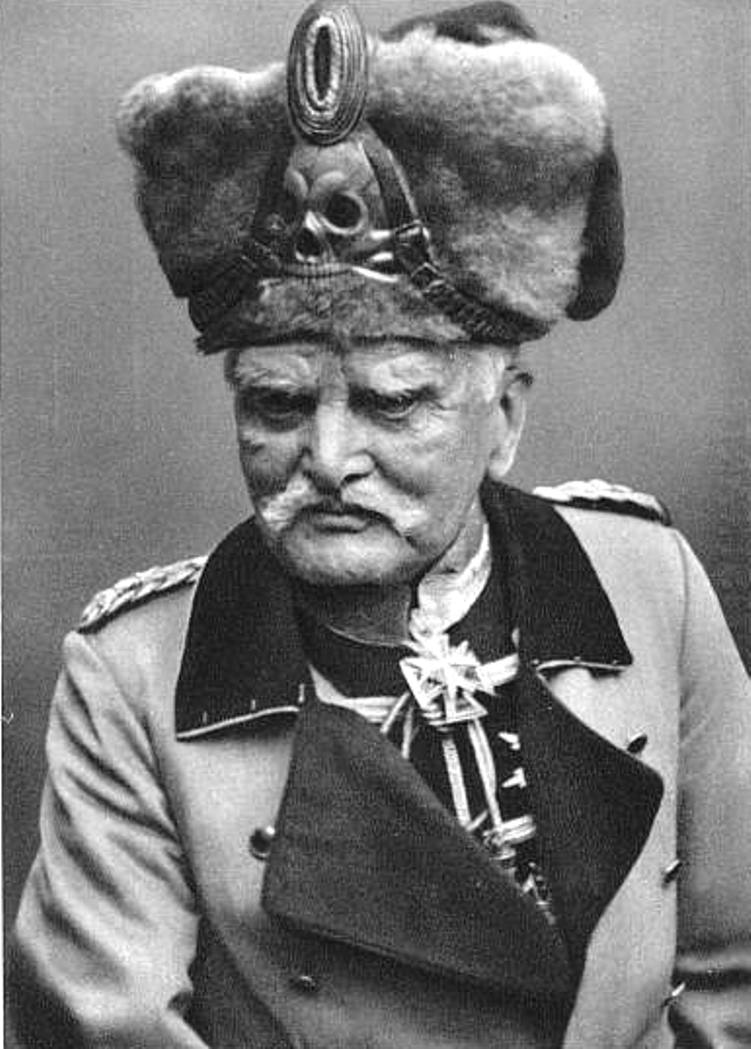 Mackensen's hat is probably the best headgear of the Great War, and his mustache is a contender as well