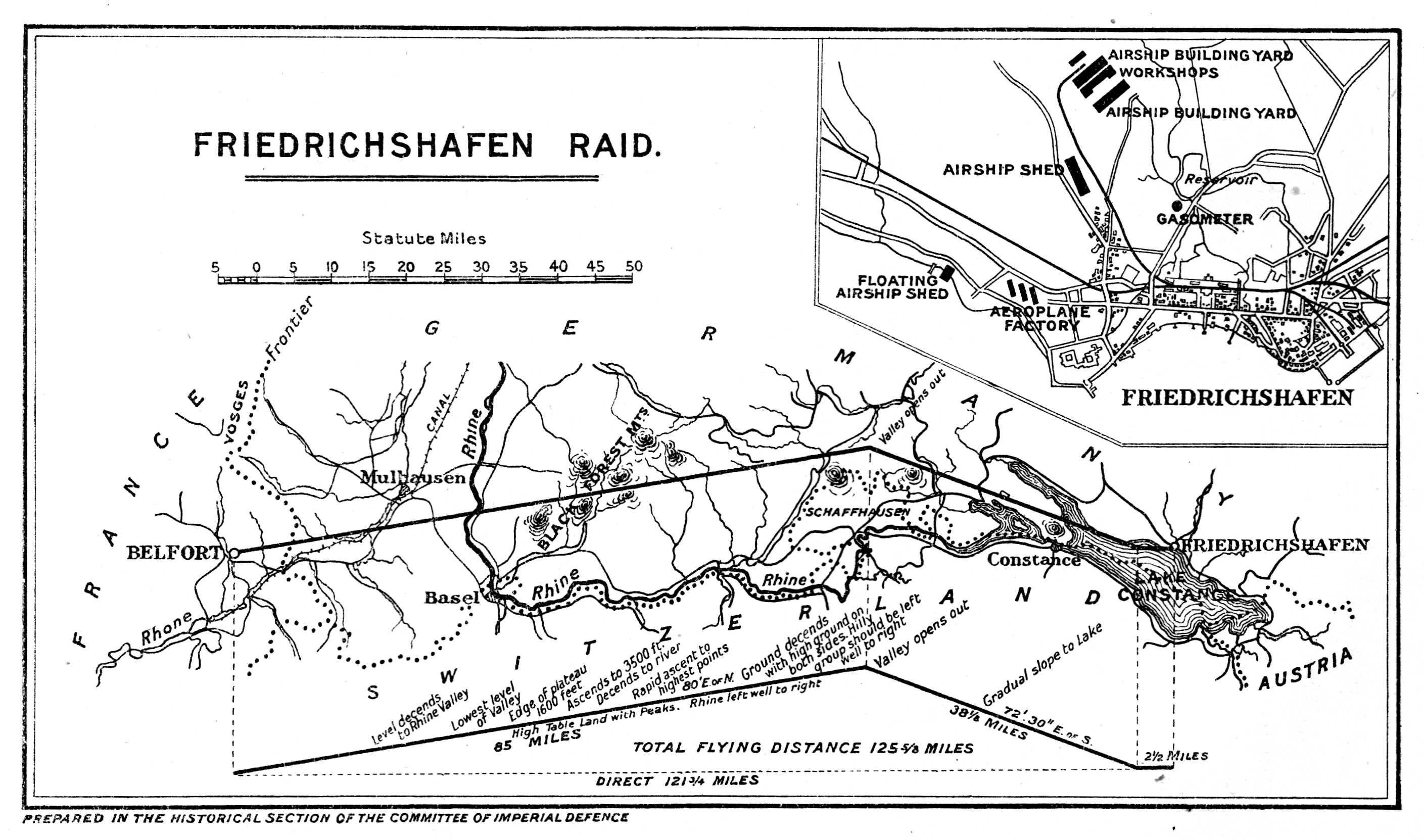 Operational plan of the Freidrichshafen raid today