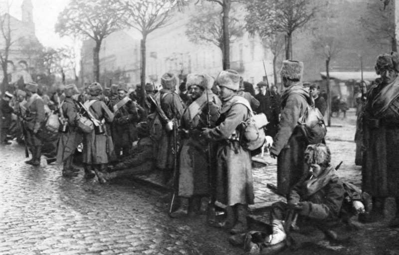 Siberian soldiers arrived in Poland within forty days of mobilization. Their numbers have been growing ever since