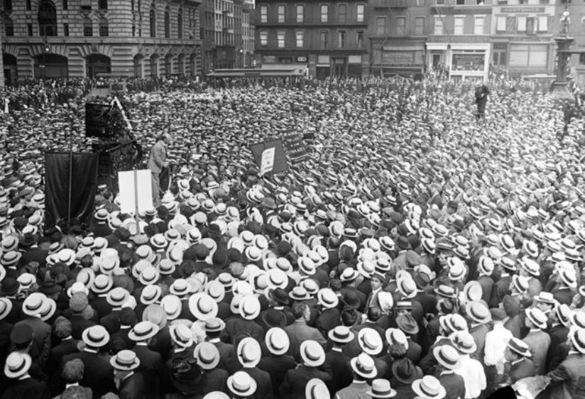 A rally of the International Workers of the World