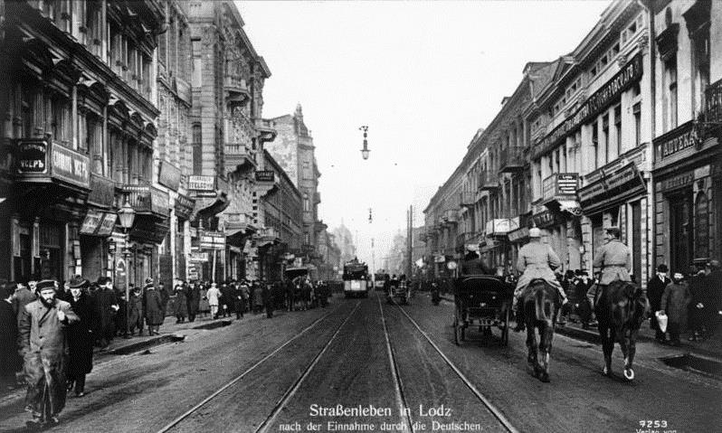 A photo of German-occupied Lodz in December 1914