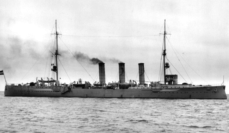 The sole survivor of Spee's command will be found hiding off Coronel in March, whereupon she is scuttled by her crew