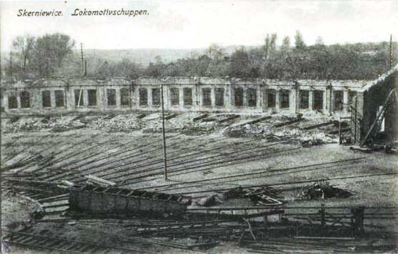 The devastated engine yard