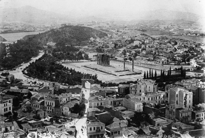 The Temple of Olympiam Zeus at Athens in 1915
