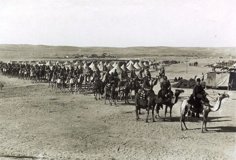 Ganga Singh, the Maharaja of Bikaner (India), sent the Camel Corps to Egypt with the outbreak of war