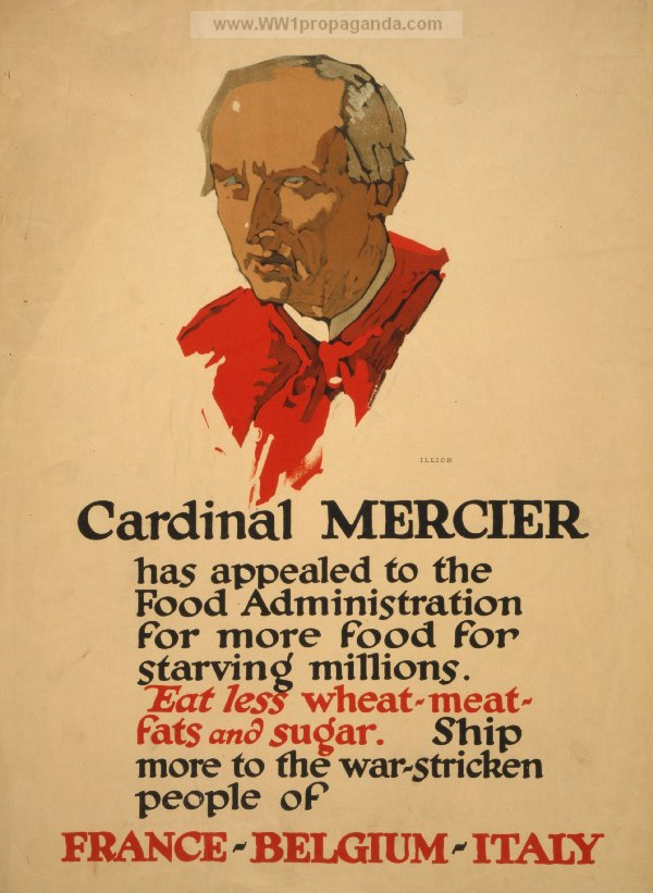 Cardinal Mercier became a focus of allied propaganda as well as relief