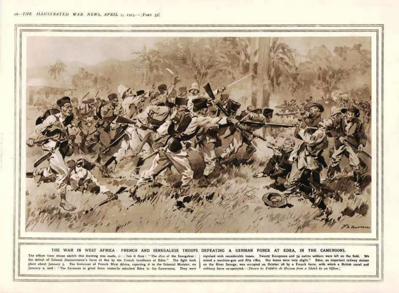 Illustrated War News, a publication of the Bureau of Propaganda, printed this rather fanciful visualization of the battle