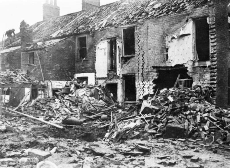 Damage at King's Lynn caused by the raid