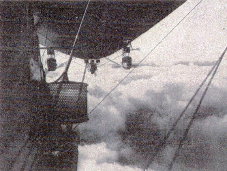 A view from underneath a Zeppelin