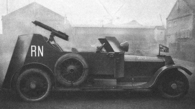 One of the Rolls Royce armored cars
