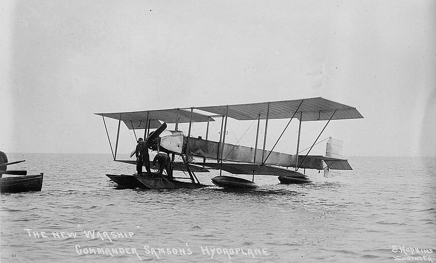 Commander Samson's hydroplane in 1913