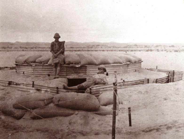 A desert blockhouse