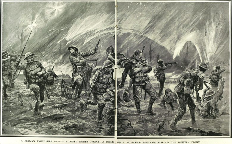 From Illustrated War News, an example of artistic adaptation to new weaponry