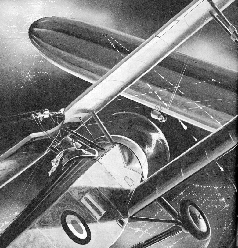 """""""Zeppelin Over London"""" by Bud Cramer"""