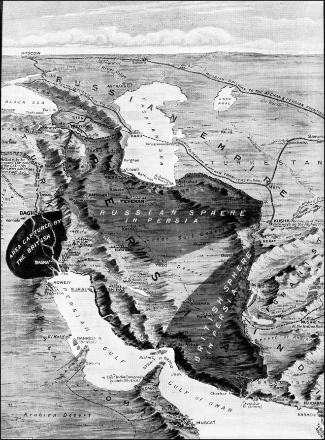 The Peril of Persia in The World War (from The Graphic, November 20, 1915)
