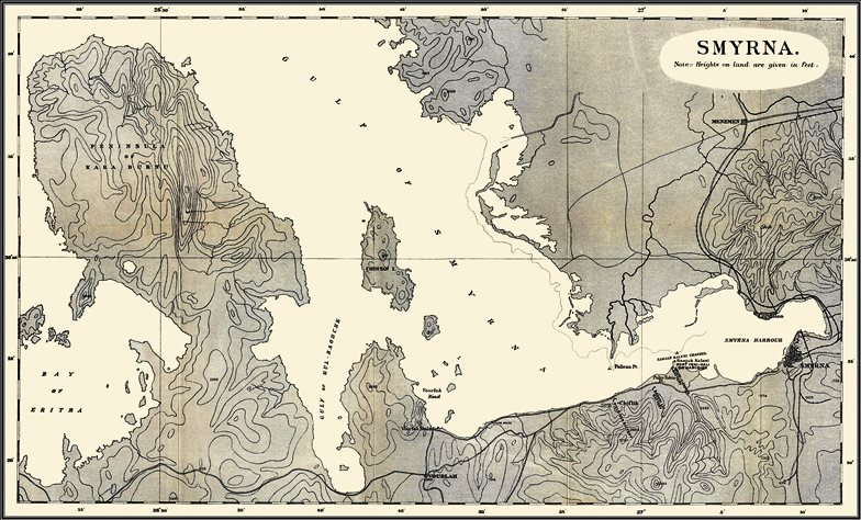 The Gulf of Smyrna. The fill-size version can be seen at Naval-History.net