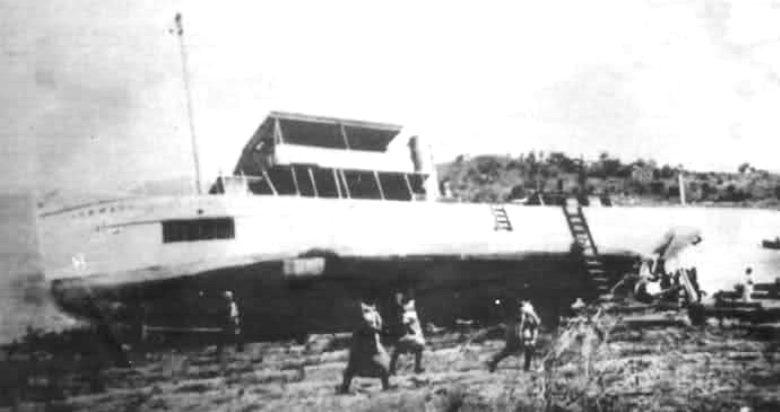 The SS Hermann von Wissmann beached