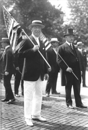 In 1916, Wilson will call for a general observance of Flag Day