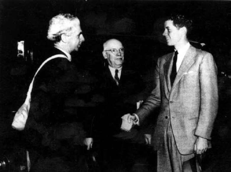 Dollan greets John F. Kennedy in 1939