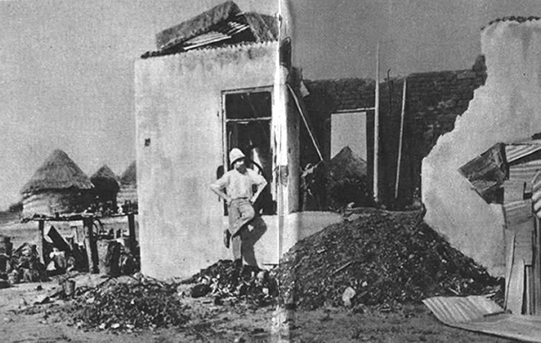A Forge Wrecked by a French 95-Mm. Shell