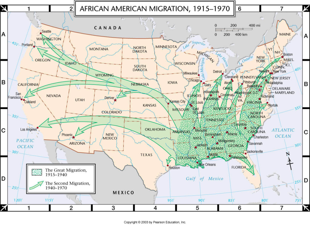 By the end of 1915, a vast exodus of blacks from the Old South to the rest of the nation takes place