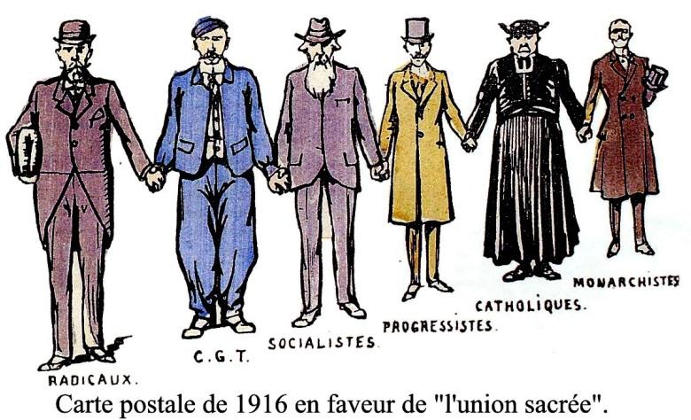 Union sacrée en 1916