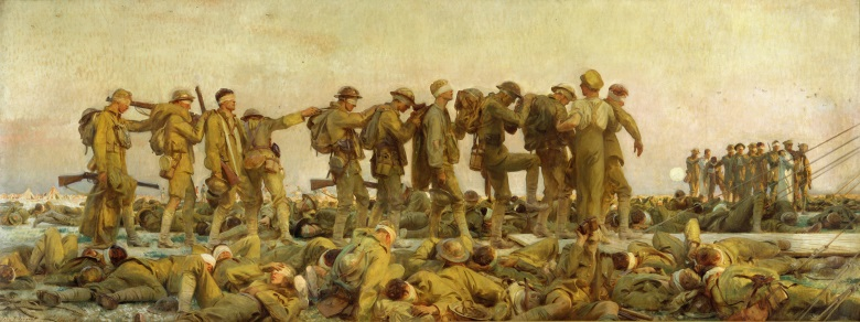 Gassed, by John Singer Sargent, is a classic example of the modernist genre and a departure from opulent Victorianism