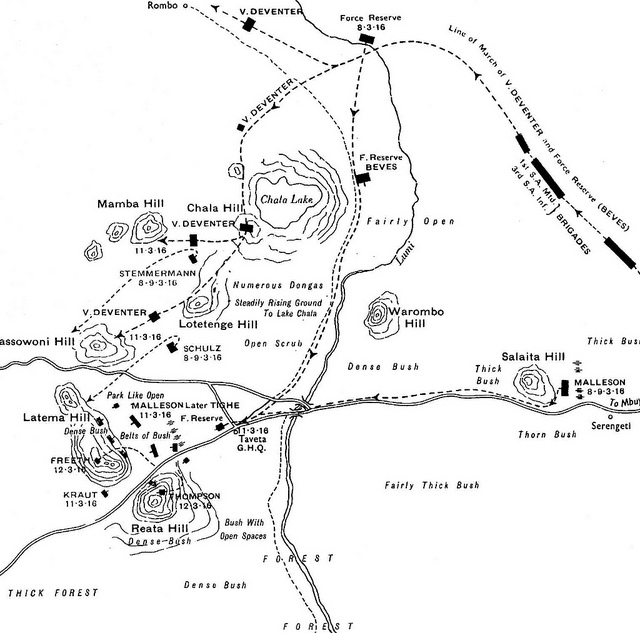 A sketch map of the day's action. Via Western Front Association