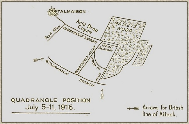 A sketch map of the Quadrangle Trench.